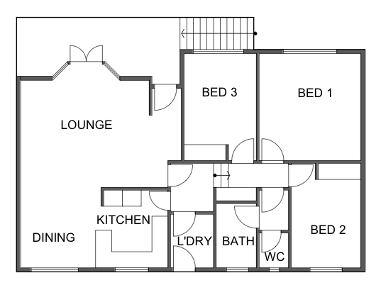 Merewether House Existing Floor Plan