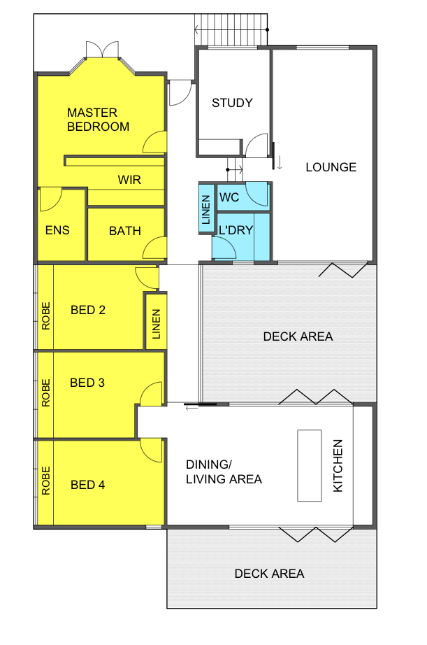 Merewether Proposed Renovation Floor Plan